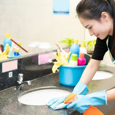 Perform Basic Cleaning of Washrooms